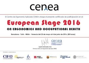 certificado cenea cursos ergonomia european stage