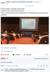 ergonomia y salud ocupacional ecuador facebook live