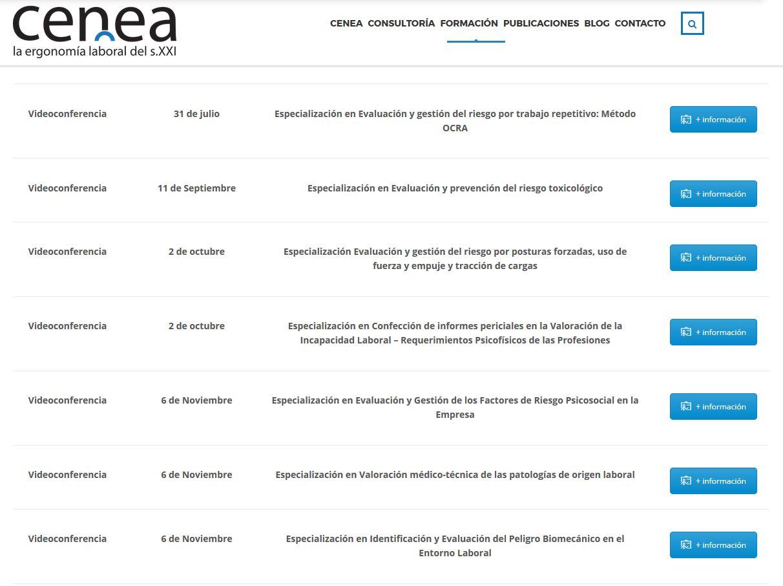 cursos de ergonomia online, ergonomia laboral online