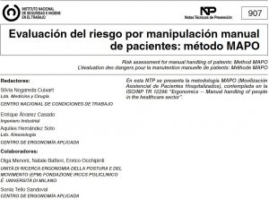 el metodo mapo, absentismo hospitales centros sanitarios, metodo de evaluacion ergonomica en centros sanitarios