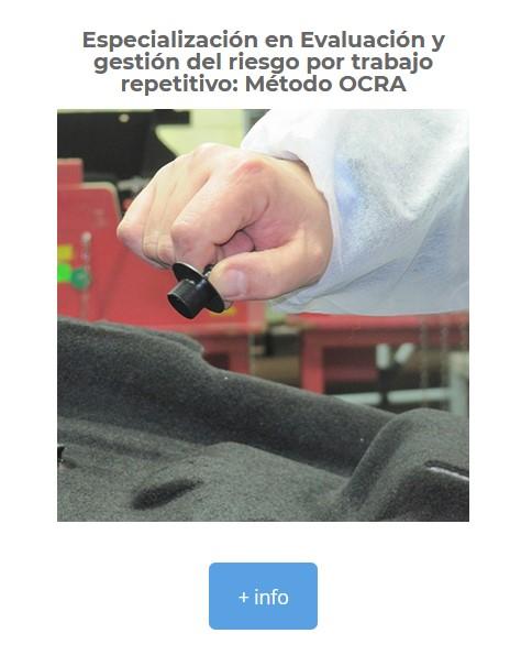 cursos riesgos ergonomicos movimientos repetitivos, curso ocra ergonomia